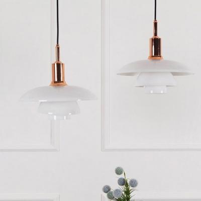 3 Shades Pendant Lamp Modern Fashion White Glass Decorative Pendant Lamp for Living Room