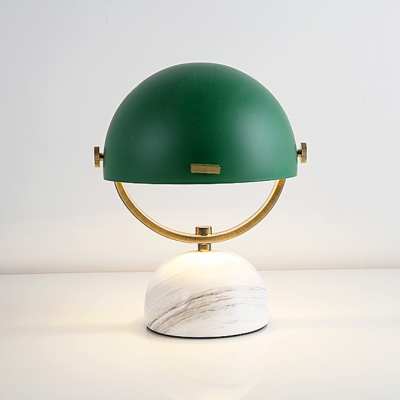 Concise Colorful Half Dome Table Lamp Metal Small Desk Light for Bedside Children Room