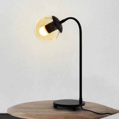 Globe Shade Table Lamp Modern Designers Style Glass Desk Light for Office Study Room
