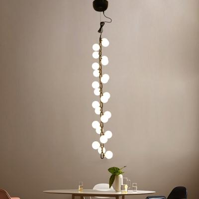 huge discount 73e43 35339 Multi Light Long Pendant Lamp Modern Frosted Glass Globe Branching LED