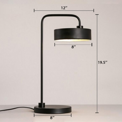 Round Shade Led Table Lamp Simple