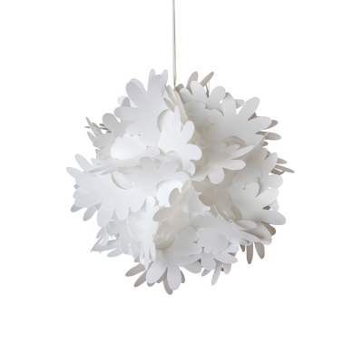 1 Head Jigsaw Puzzle Hanging light Modernism Plastic DIY Drop Ceiling Lighting in White