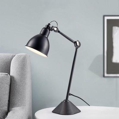 Black Adjustable Arm Desk Lighting Modernism Metallic Standing Desk Lamp for Study Room