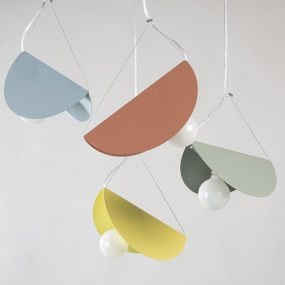 Bounce Hanging Light Designers Style Colorful Metal Accent Pendant Lamp for Staircase