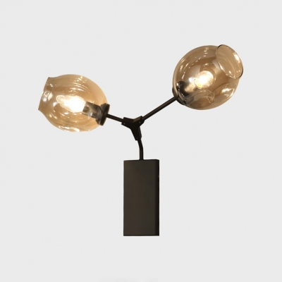 Branch Wall Light Designers Style Glass 2 Light Adjustable Wall Sconce for Bedroom