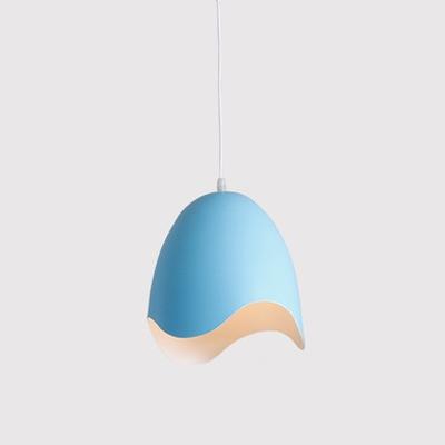 Colorful Modern Oval Shape Drop Light Contemporary Metal Decorative Suspension Lamp