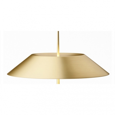 Iron Tapered Table Light Minimalist Single Head Table Lamp in Gold for Living Room