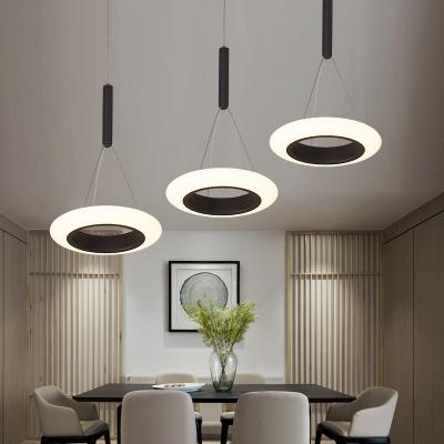Modern Design Tyre LED Pendant Lamp Metal 3 Light Drop For Living Room Dining