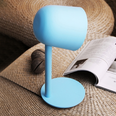 Modern Dome Table Lamp Metal Desk Light in Blue/Green/Pink with On/off Push Switch