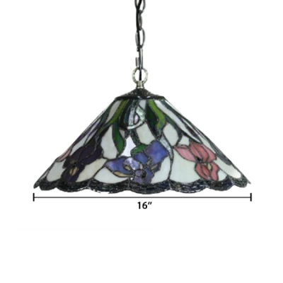 Multicolored Loft 2-Light Ceiling Light with 16