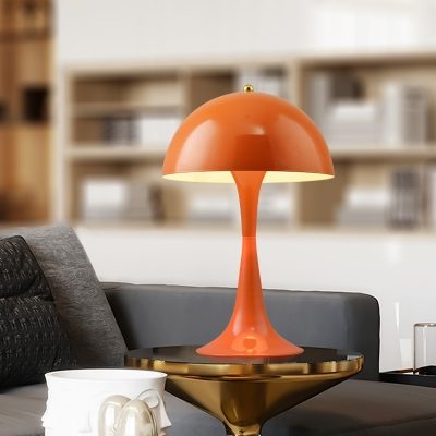 Orange/Yellow Dome Desk Lamp Concise Modern Metal LED Table Light for Children Room