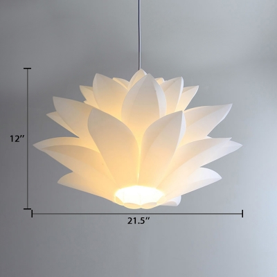 Plastic Lotus LED Hanging Light Contemporary Suspension Light for Exhibition Hall