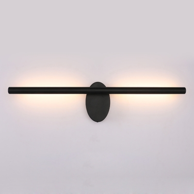 Rotatable Linear Wall Light Simplicity Concise Acrylic LED Wall Mount Fixture in Neutral