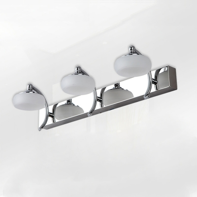 Stainless Curved Arm Makeup Light Contemporary Wall Mount Fixture for Mirror Bathroom