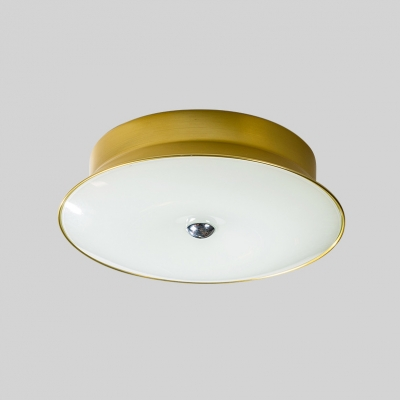 Tapered LED Flush Light Fixture with Acrylic Shade Pink/Yellow Art Deco Ceiling Fixture for Restaurant