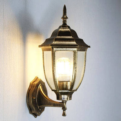 Antique Brass Lantern Sconce Light Traditional Vintage Metal 1 Head Outdoor Wall Lighting Beautifulhalo Com
