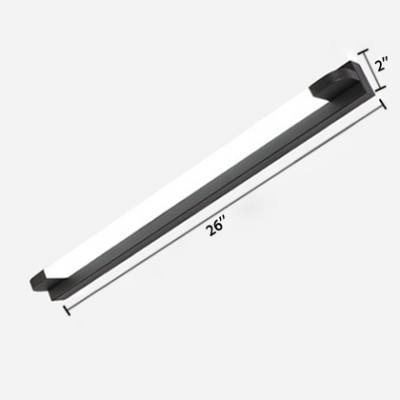 Black Straight Bar Mirror Light Modern Acrylic Cosmetic Vanity Light for Dressing Table