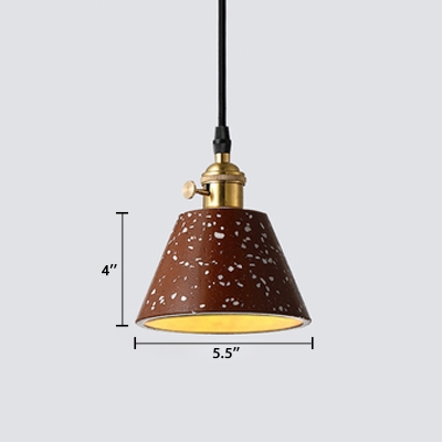 Contemporary Tapered LED Suspended Light Adjustable Concreted 1 Light Suspension Light