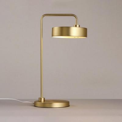 Gold Rose Round Desk Lamp Modern