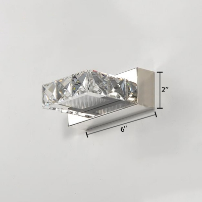Crystal Square Makeup Light Modernism 1/2/3/4 Heads Lighting Fixture for Mirror Bathroom