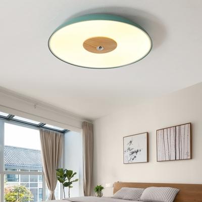 Dome LED Flush Light Fixture Modern Gray/Green Acrylic Ceiling Flush Mount for Children Bedroom