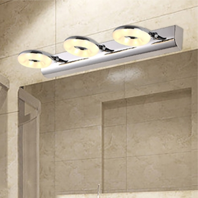 Donut Cosmetic Vanity Lights Modern Design Stainless 2/3 Lights Wall Light for Dressing Table