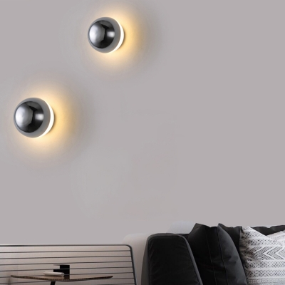 Plastic Eclipse Wall Sconce Contemporary Art Deco Wall Light for Staircase Balcony
