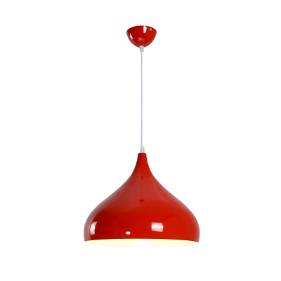 Single Head Spinning Hanging Lamp Modern Colorful Iron LED Suspended Light for Kids