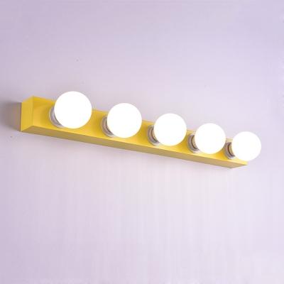 Yellow Open Bulb Vanity Light Modern Versatile DIY Makeup Cosmetic Mirrors Light in Third Gear