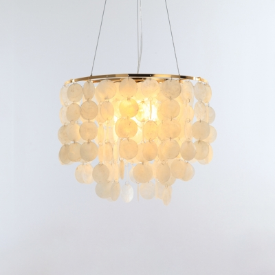 Tiered Ring Hanging Light Fixture Modernism Shelly 1 Bulb Decorative Pendant Light in Gold