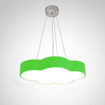 Colorful Simple Cloud Hanging Light Nursing Room Acrylic LED Pendant Lighting in Warm/White