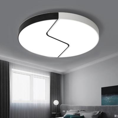 Minimalist Stylish Round Ceiling Light With Acrylic Shade Led Indoor