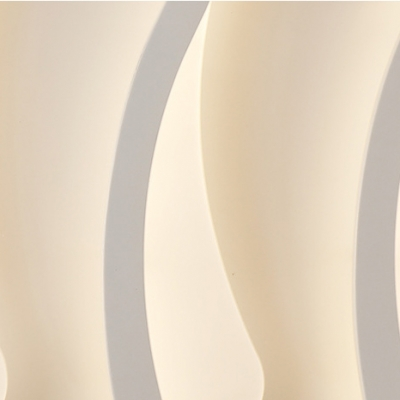 Acrylic Wave Bar Semi Flush Mount Modernism Decorative LED Ceiling Lamp in Warm/White