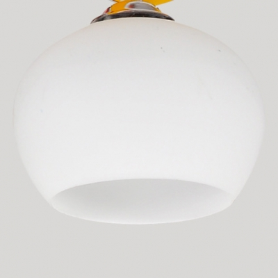 Cartoon Birds Hanging Lamp with Frosted Glass Shade Amusement Park 3 Lights Suspended Light