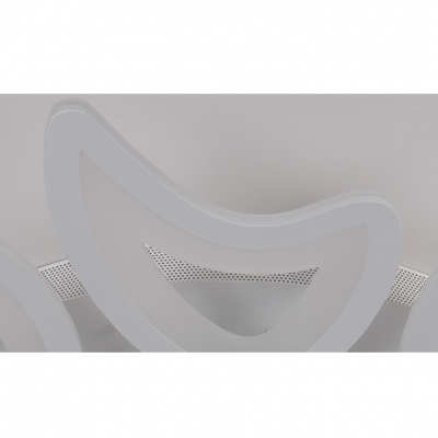 Contemporary Crescent Ceiling Fixture Acrylic Shade 3/4/5 Heads LED Semi Flush Light in White
