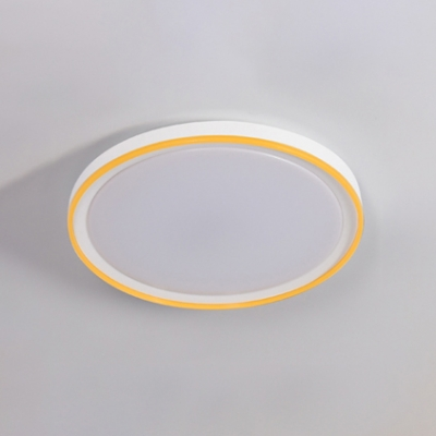 Ultra Thin Round LED Ceiling Light Colorful Modernism Acrylic Lampshade Flush Mount