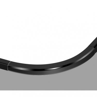 Ultra Thin Square Flush Light Nordic Style Acrylic LED Flush Mount Lighting in Black