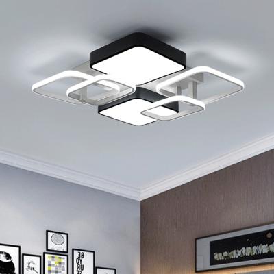Oblong Led Ceiling Fixture Modern