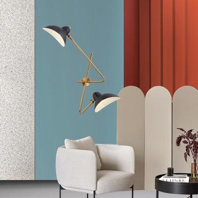 Black Duckbill Shade Sconce Light Modern Design Metal 2 Lights Decorative Wall Mount Light