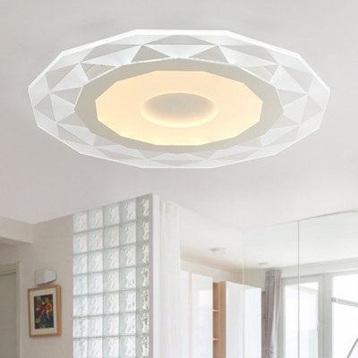 Modernism Diamond Pattern Ceiling Lamp with Polygon Acrylic LED Ceiling Flush Mount in Warm/White