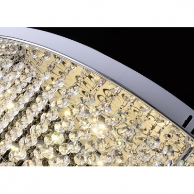 Crystal Beaded Flush Mount Light with Peacock Design Modernism LED Ceiling Fixture in Third Gear