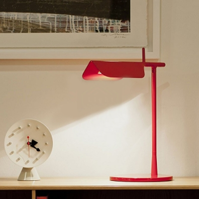 Metal Folded Standing Table Light Nordic Style Colorful Single Head Table Lamp for Kids