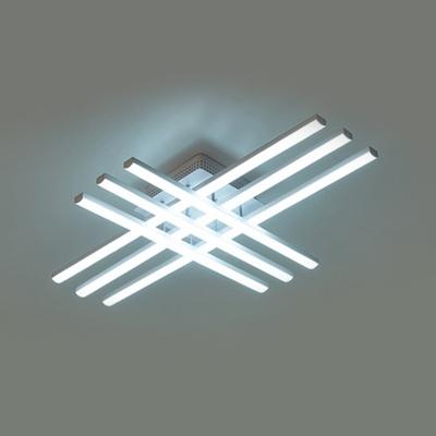 Modern Linear Ceiling Flush Mount Acrylic 6/8/10/12 Lights LED Flush Light in White
