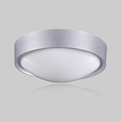 Round LED Flushmount Contemporary Concise Acrylic 1 Light Ceiling Lamp in Silver for Living Room