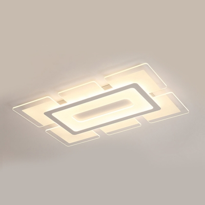 Linear Lighting Fixture Minimalist Modernism Energy Saving Acrylic LED Flush Light in Warm/White