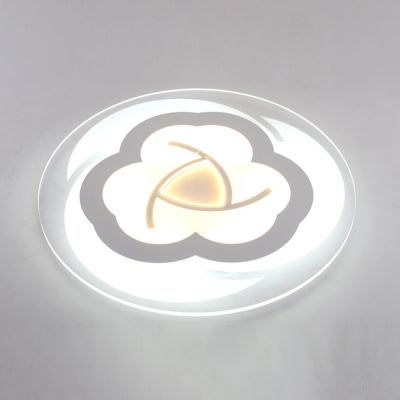 Modern Design Bloom Design Ceiling Light with Round Disc Acrylic LED Flush Light in Warm/White