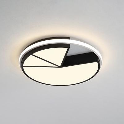 Acrylic Geometric Ceiling Lamp Modern Design LED Flush Mount in Warm/White for Restaurant