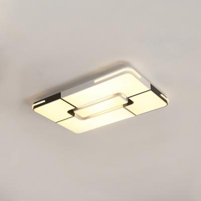 Oblong Surface Mount Ceiling Light Modern Fashion Eye
