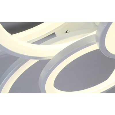 Tiered Ring Ceiling Lamp with Acrylic Shade Modernism Concise Multi Light LED Semi Flush Light