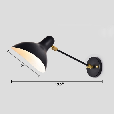 Modern Design Duckbill Wall Lamp Metal Single Bulb Wall Mount Light in Black for Study Room
